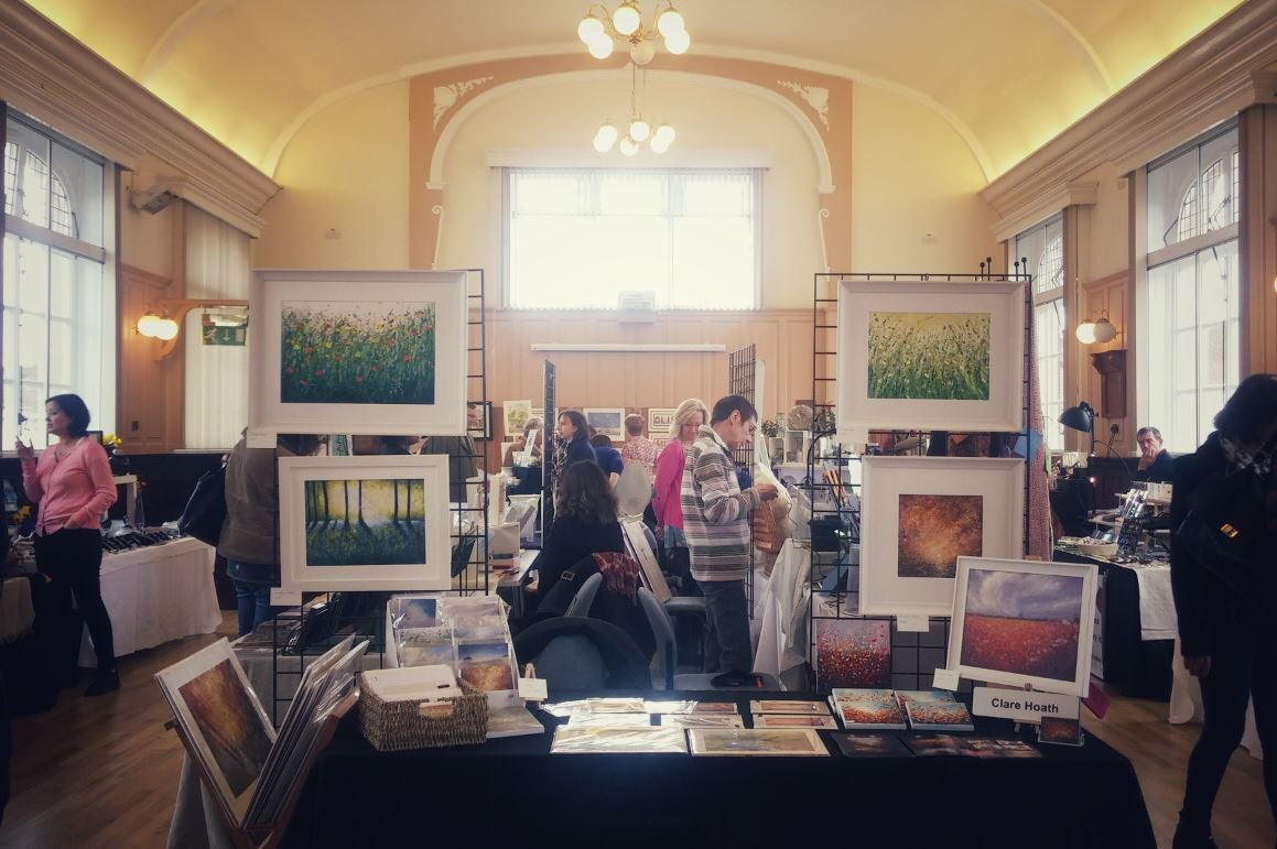Upper Chamber shown hosting an art and craft fair