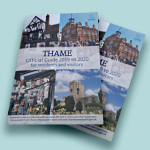 Front cover of Thame's Town Guide 2019-20