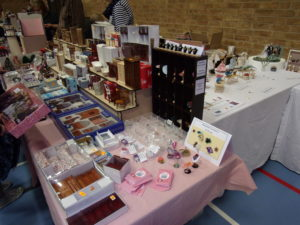 Our stall at Thame Dolls House Fair February 2019